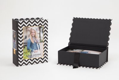 Custom Proof Boxes Offer your clients handcrafted Custom Proof Boxes for stylish storage of proofs and prints. Each box features a wrap-around design and one of four finishing options, giving you a unique presentation as beautiful as the prints inside.
