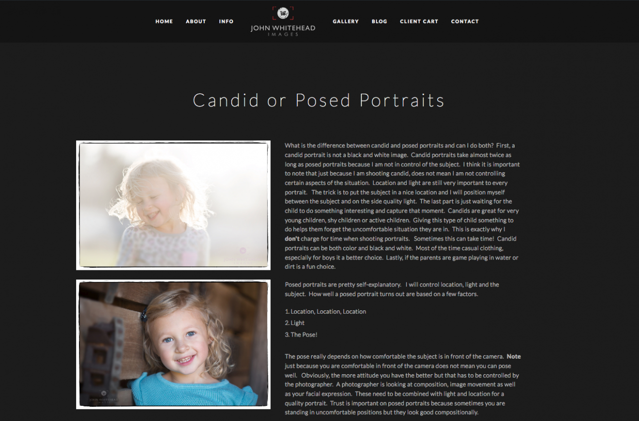 Candid or Posed Page