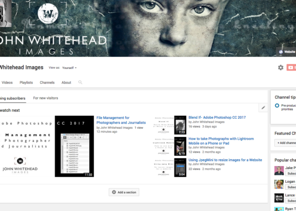 John Whitehead Image YouTube Channel.