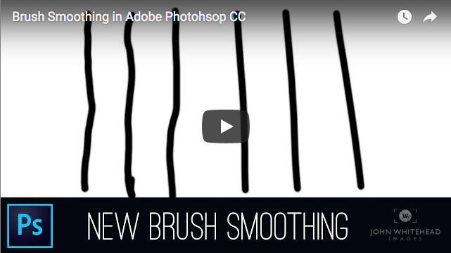 Brush Smoothing in Adobe Photohsop CC