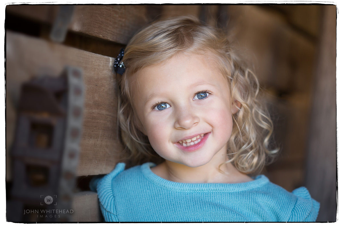 Natural light Location, Environmental kids portrait.