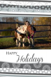 Custom designed front of a holiday card.