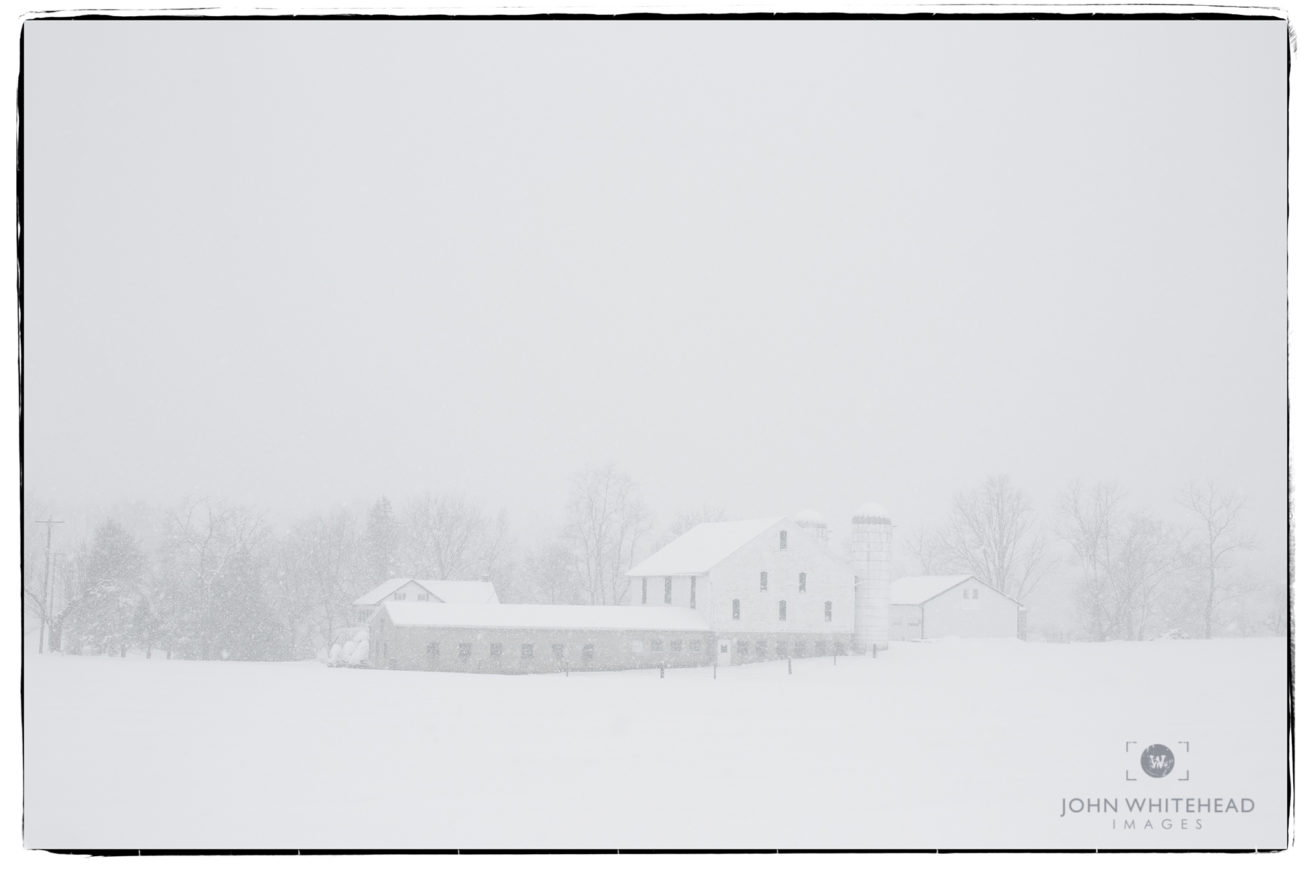 Farm during snow