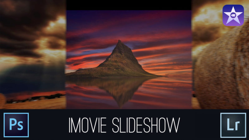 How to create a slideshow in imovie. I also cover how to size and prepare images in Adobe Photoshop and Adobe Lightroom.